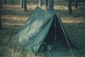 My U.S. Army pup tent.